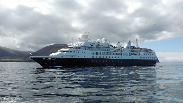 On June 25, a Silver Explorer cruise ship entered the port of Petropavlovsk-Kamchatsky under the flag of the Bahamas