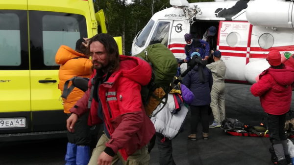 In Kamchatka, two tourists were evacuated from the rockfall when climbing the Klyuchevskaya volcano